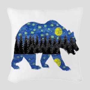 NIGHT LIGHTS Woven Throw Pillow