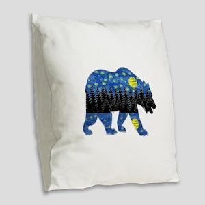 NIGHT LIGHTS Burlap Throw Pillow