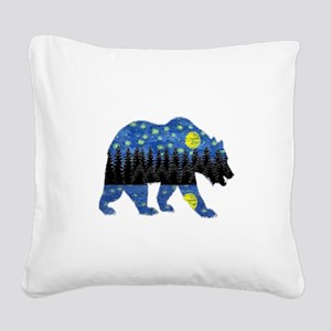 NIGHT LIGHTS Square Canvas Pillow