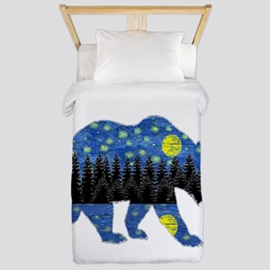 NIGHT LIGHTS Twin Duvet Cover