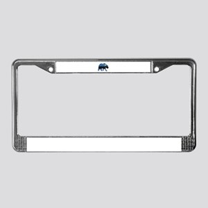 NIGHT LIGHTS License Plate Frame