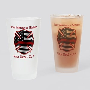 Personalized Firefighter symbol Drinking Glass