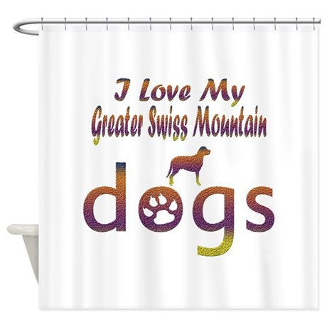 Greater Swiss Mountain designs Shower Curtain