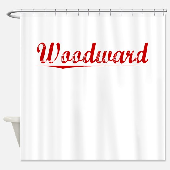 Woodward, Vintage Red Shower Curtain