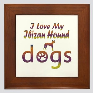 Ibizan Hound designs Framed Tile