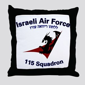 115 Sqdn IAF Throw Pillow
