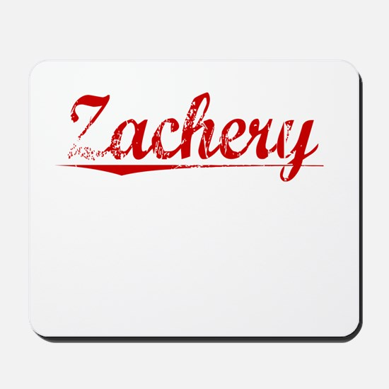 Zachery, Vintage Red Mousepad