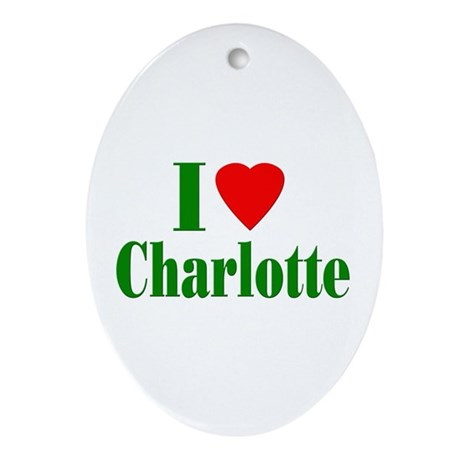 I Love Charlotte Oval Ornament