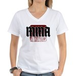 MMA gothic teeshirt Women's V-Neck T-Shirt