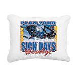 Plan Your Sick Days Wisely Rectangular Canvas Pill