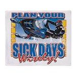 Plan Your Sick Days Wisely Throw Blanket