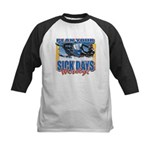 Plan Your Sick Days Wisely Kids Baseball Jersey