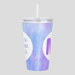 Alpha Gamma Delta Acrylic Double-Wall Tumbler
