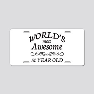 Awesome Birthday Aluminum License Plate