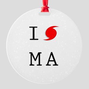 Hurricane Sandy Massachusetts Round Ornament