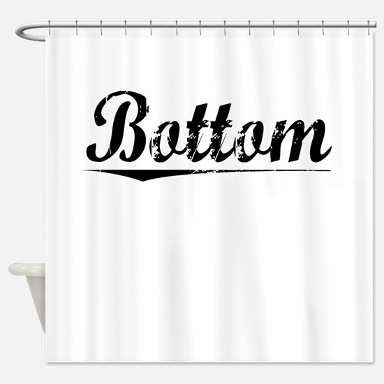 Bottom, Vintage Shower Curtain