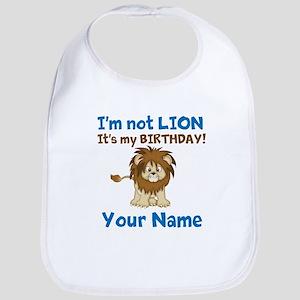 Lion Birthday Bib