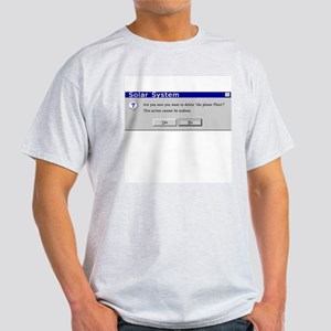 Sure You Want to Delete Pluto? Ash Grey T-Shirt