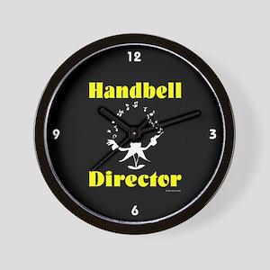 Handbell Director Black Wall Clock
