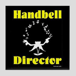 Handbell Director Black Tile Coaster