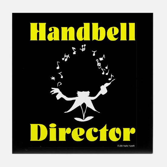Handbell Director Black Tile Coaster