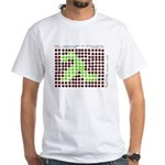 """Pancito """"bugs"""" picture on white T-Shirt"""