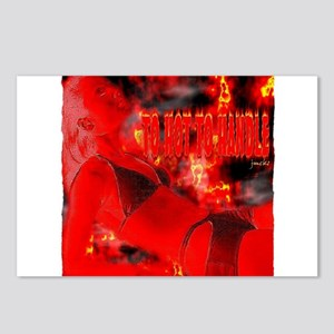 to hot to handle babe art illustration Postcards (