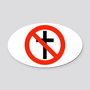 No Religion Oval Car Magnet