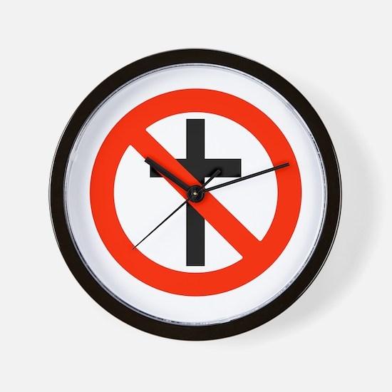 No Religion Wall Clock