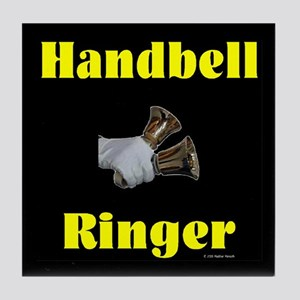 Handbell Ringer Black Tile Coaster