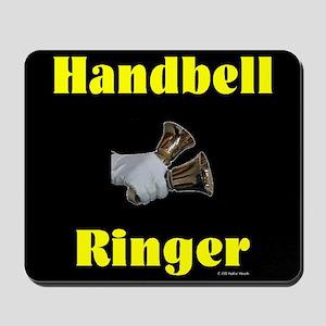 Handbell Ringer Black Mousepad
