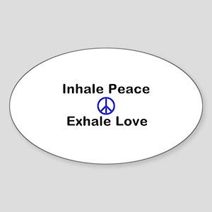 Inhale Peace Sticker (Oval)