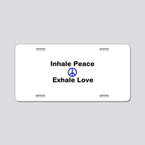 Inhale Peace Aluminum License Plate