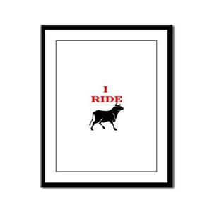 Ride Bull Framed Panel Print
