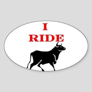 Ride Bull Sticker (Oval)