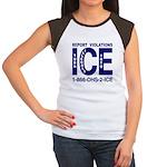 REPORT VIOLATIONS TO ICE - Women's Cap Sleeve T-S