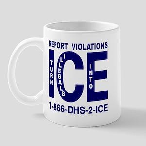 REPORT VIOLATIONS TO ICE -  Mug