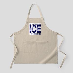 REPORT VIOLATIONS TO ICE -  BBQ Apron