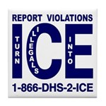 REPORT VIOLATIONS TO ICE - Tile Coaster