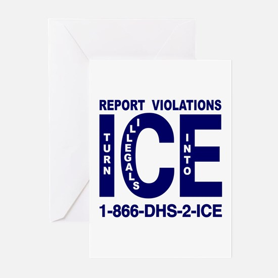 REPORT VIOLATIONS TO ICE -  Greeting Cards (Packag