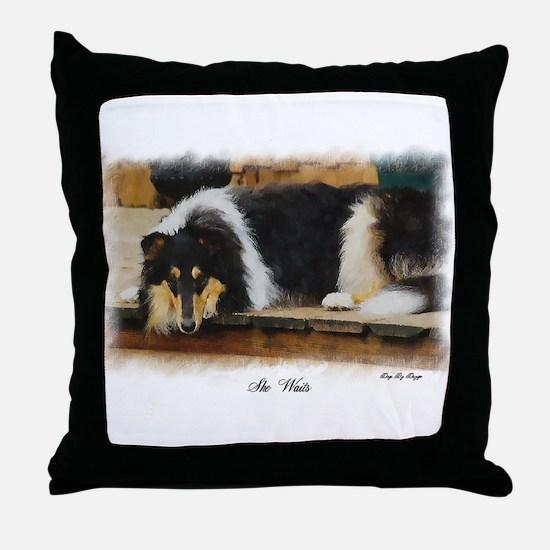 Tri Color Collie Throw Pillow