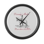Dressage Large Wall Clock
