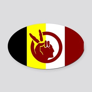 American Indian Movement Oval Car Magnet