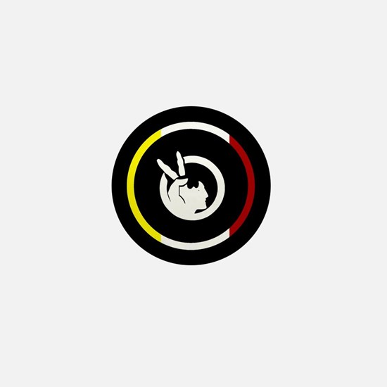 American Indian Movement Mini Button