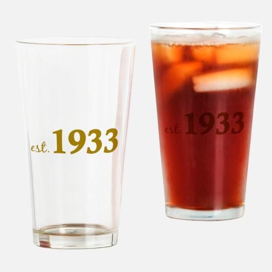 Est 1933 (Born in 1933) Drinking Glass