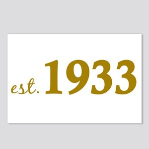 Est 1933 (Born in 1933) Postcards (Package of 8)