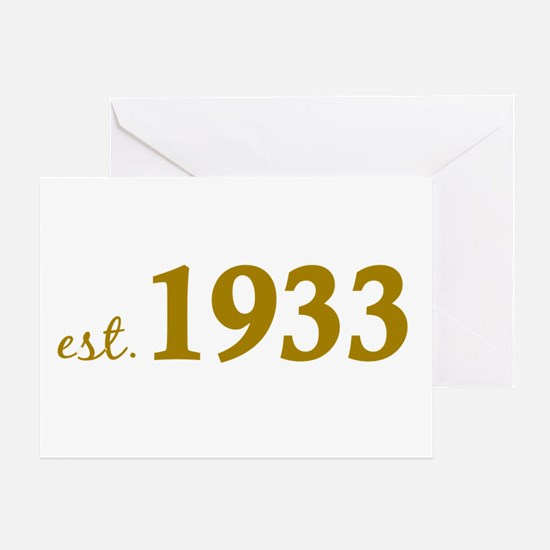 Est 1933 (Born in 1933) Greeting Card