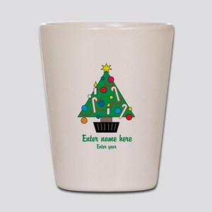 Personalized Christmas Tree Shot Glass