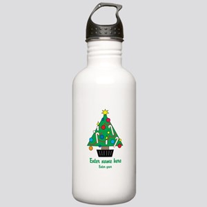 Personalized Christmas Tree Stainless Water Bottle