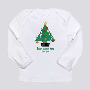 Personalized Christmas Tree Long Sleeve Infant T-S